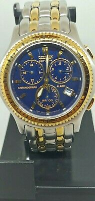Men's Citizen Eco Drive Stainless Steel Wrist Watch  Gn-4-S Blue Dial
