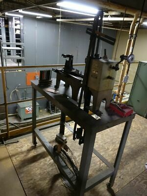 CARLSON CO. SPRING MAKING MACHINE & Lots of Wire Excellent Condition