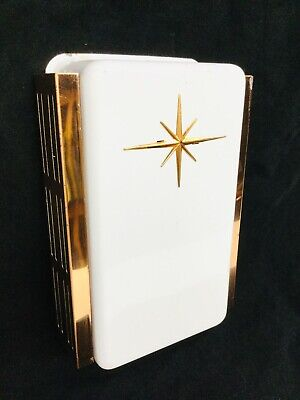 Doorbell Mid Century Atomic Starburst 2 Chime, White Enamel Paint, Copper Glow!!