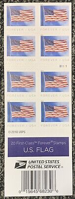 US Forever Stamps - 20 US Flag Stamps (1 book of 20) USPS
