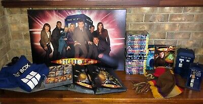 Dr Who Collection: DVD's, Wall Mount, Tardis, Cards, Hoodie, Scarf, etc..