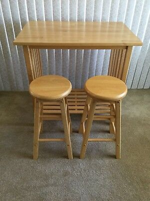 Breakfast Nook Table Bar with 2 Bar Stools - ***LOCAL PICK UP ONLY ***