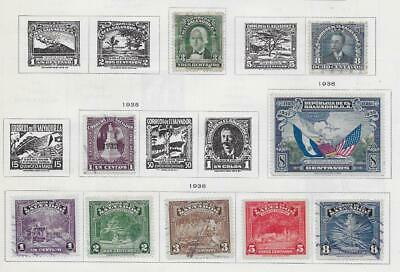 9 Salvador Stamps from Quality Old Album 1935-1938