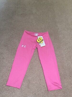 Girls Kids Youth Under Armour Capri Pink Legging NEW Size Youth Medium