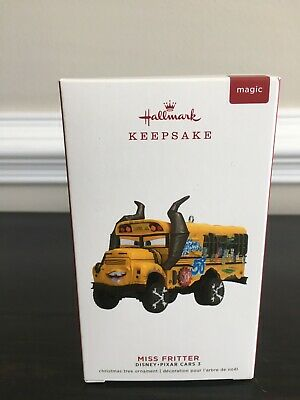 New! Hallmark Keepsake Magic Ornament Disney Pixar Cars 3 Miss Fritter w/Sound