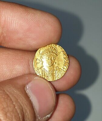Ancient Byzantine Gold Coin Circa 7-9th century A.D. Guaranteed Old