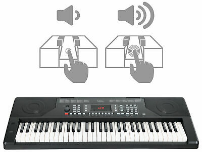 Digital 61-Tasten Keyboard E-Piano 300 Sounds & Rhythmen Touch Response Schwarz