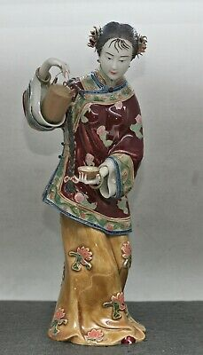 A Truly Magnificent Vintage Chinese Hand Painted Porcelain Figurine Signed c1970