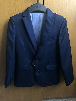 ✅ BNWT BOYS NEXT Pin Dot Navy Suit Jacket Age 9 years