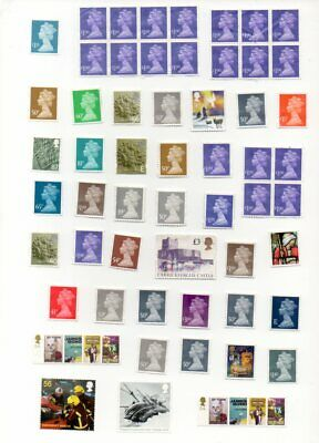 £100.00 Face Value Gb Higher Values Unfranked No Gum All Off Paper