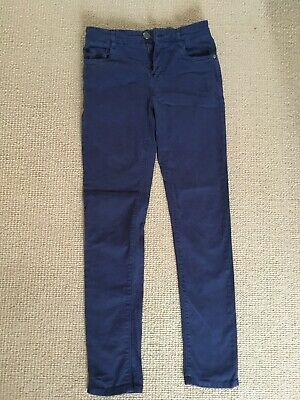Boys Blue Jean Style Trousers From Next Size 12 Years Cotton Elastane