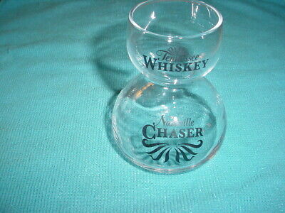 RARE Tennessee Whiskey Double Bubble Hourglass Shot Glass Nashville Chaser