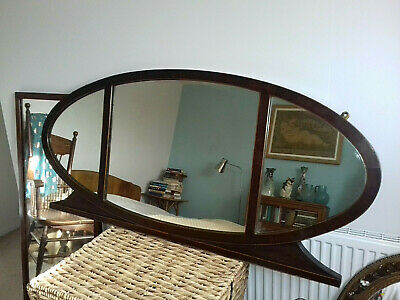 Fabulous Very Large Art Deco Mahogany Mantlepiece Hall Sideboard Mirror