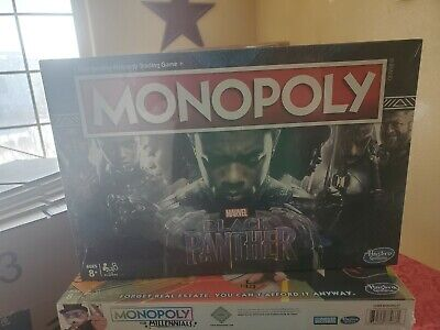 Monopoly Game Black Panther Edition BRAND NEW