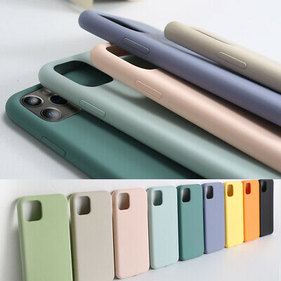 Liquid Silicone Phone Case For iPhone 11 Pro Max 6 7 8 X XS XR Shockproof Cover
