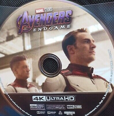 Avengers Endgame 4k Ultra HD Blu Ray (Disc only) no packaging FREE POST!