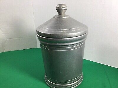 RWP Wilton Armetale Colonial Ice Bucket/ Canister Pewter ware Columbia PA USA