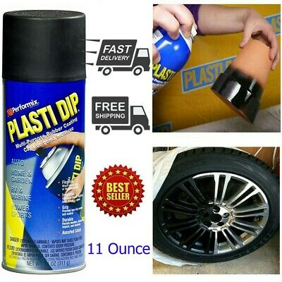 Plasti Dip Rubber Coating Spray Paint Matt Black Color Diy Car Wheels Rims Cans
