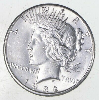 Choice AU/UNC 1922-S Peace Silver Dollar - 90% Silver *788