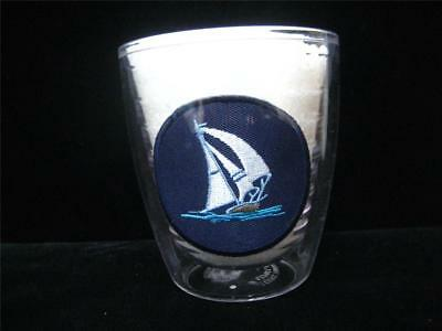 Tervis Tumbler Nautical Sailboat Patch Blue Barware Clear Acrylic 12 oz Pool Cup