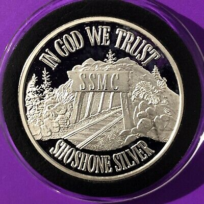 Wallace Idaho 1//3 Troy Oz .999 Fine Silver Valley Proof Collectible Coin Round