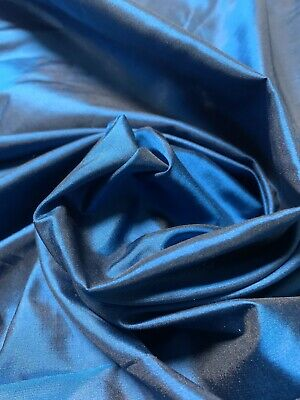 "100% SILK TAFFETA FABRIC  By The Yard X 45"" Wide ~10Mommy ~TWO TONES BLUISH"