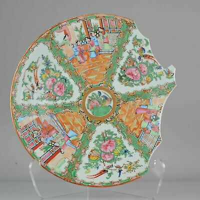 Antique Chinese Porcelain Plate Large Cantonese Figures  China ca 1900[:...
