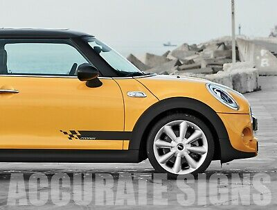 Mini Cooper Side Stripes (Pair) Stickers Decals Graphics