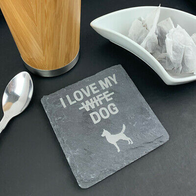 Personalised Slate Coaster Square Cat, Dog Lover Mothers Day Gift For Him / Her