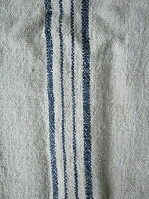 Vintage Antique European Indigo Striped Grainsack
