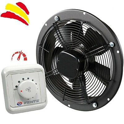 Ventilador Industrial Axial Vents OVK 2E 300 mm Extractor Blower y Controlador