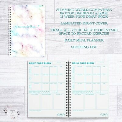 Slimming World 12 Week Food Diary Book - 84 Daily Food Diaries In A Book