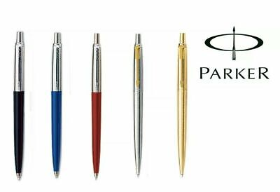 Parker Jotter Ballpoint Pen Blue Ink in Black/Blue/Red/Gold/Silver or Refill