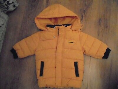 Little Boys Hood Warm Padded Jacket,Ideal For Colder Days, Age 18/24 Mths Yellow