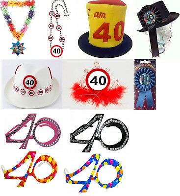 Traffic Sign 40th Party White Trilby Hat Birthday Novelty Gift Favour Favor Crea