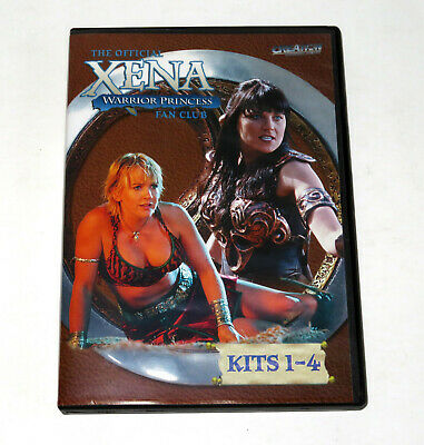 Official XENA Fan Club KITS 1-4 DVD Lucy Lawless CREATION Ent. Rare OUT OF PRINT