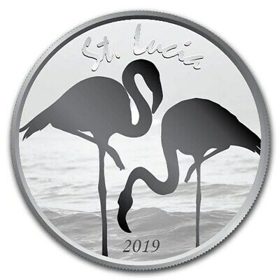Ste Lucie 2 Dollars Argent 1 Once Flamant Rose 2019