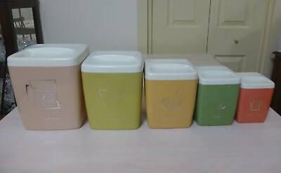 Nally Ware Australian-Made Vintage Kitchen Canisters.