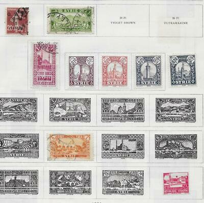 9 Syria Stamps from Quality Old Album 1925-1931