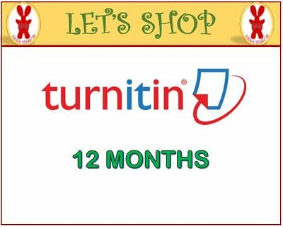 Turnitin Student Account Unlimited Word (12 MONTHS)- Plagiarism Checker ONLY