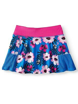Avia Athletic Girls Pull On Scooter Skort Size X-Large (14-16) Blue Floral NEW