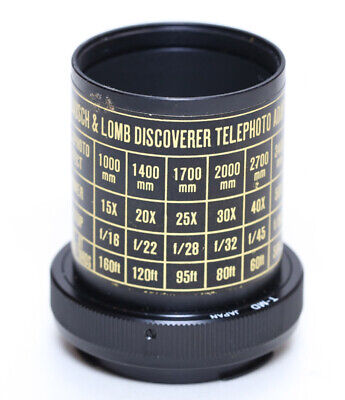 Bausch and Lomb Discoverer scope photo adapter, Minolta MD/T Mount