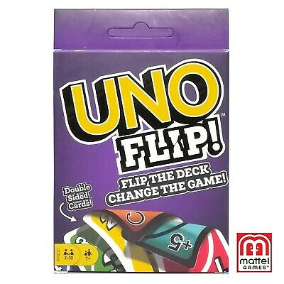 UNO Flip! Mattel Double Sided Card Game Original Classic Party Game for 2-10 Ppl