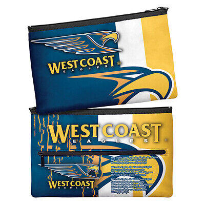 Afl West Coast Eagles Team Song Kids School Large Neoprene Pencil Case