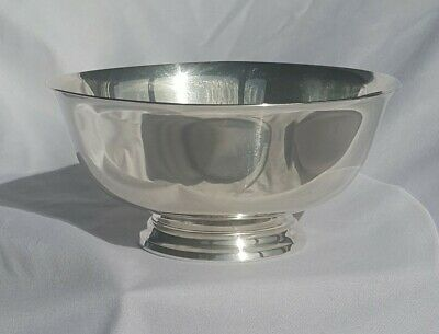 """Reed & Barton Sterling Silver Paul Revere Reproduction 4 1/2"""" Bowl"""