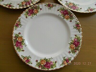 "ROYAL ALBERT OLD COUNTRY ROSES DINNER PLATES 10"" Dia. 1ST QUALITY . 4 AVAILABLE"