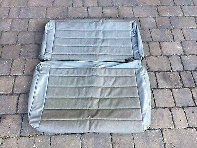 Jeep Wrangler YJ CJ 87–96 Back Row Bench Grey Leather Seat Cover from Germany