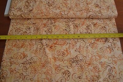 By 1//2 Yd Hoffman//885-13 Orange Indonesia B480 Orange on Orange Batik