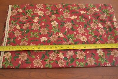 M8823 Tan Green on Dark-Red Quilting Moda//Woodland Holiday//32285 14 By 1//2 Yd