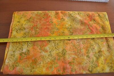 By-1//2-Yd Textile Arts B1122 Yellow Orange /& Red Candy-Corn on Black Quilting
